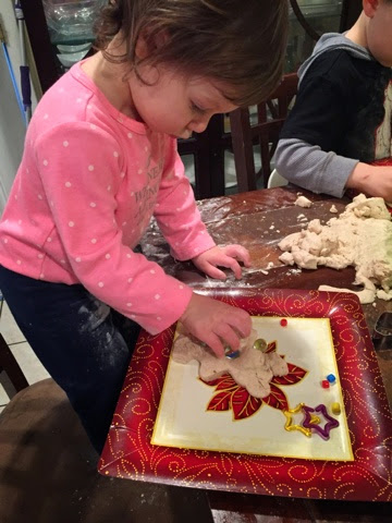 This gluten-free playdough alternative is perfect for sensory play and a pretend Christmas cookie shop!