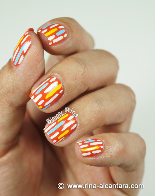 Broken Lines Nail Art Design