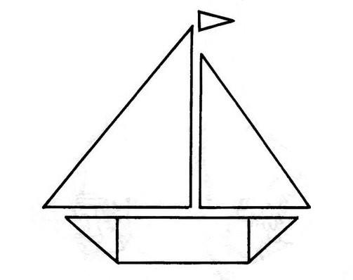 Dibujos De Figuras Geometricas Para Colorear E Imprimir: Pinto Dibujos: Barco De Figuras Geométricas Para Colorear