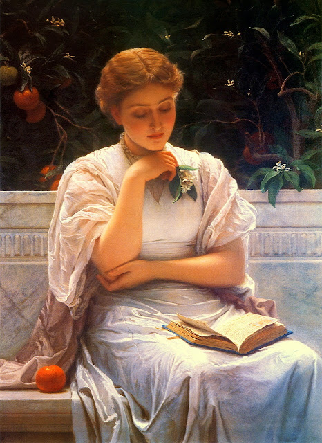 Charles Edward Perugini - Girl reading