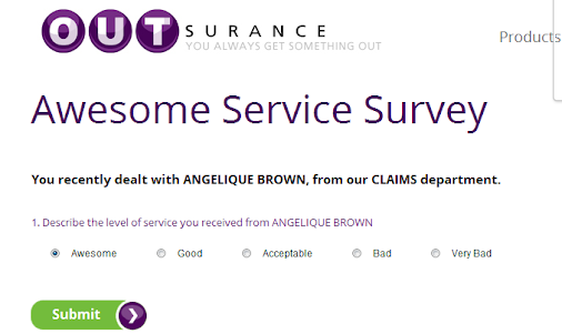 Shout out to +OUTsurance for excellent service Here's how insurance normally works. Something breaks...