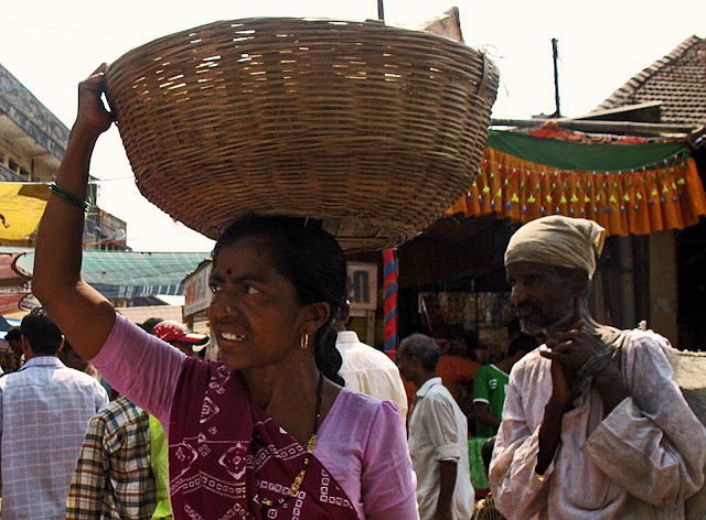 woman with basket on head