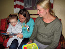Matimu was able to open up a few of his birthday gifts early from his Aunt Heather. He loved them!