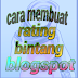 Cara Buat Rich Snippet Rating Bintang blogspot