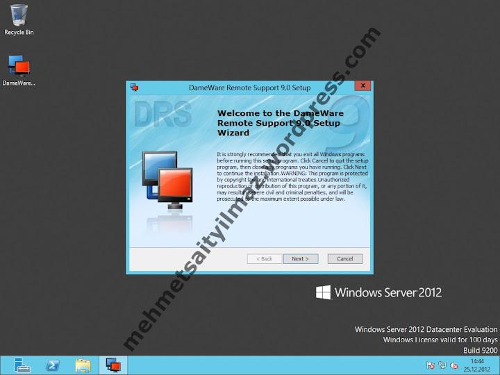 Remote Administration Software DameWare Mehmet Sait YILMAZ