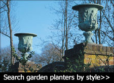 large garden urns and planters