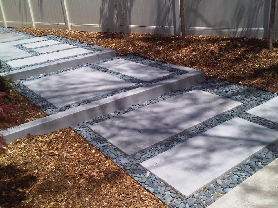 Hormig n impreso caminos y otros trabajos para jardines - Losas de piso exterior ...