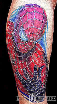 Mike DeVries  Tattoos  Movie  Spider Man Tattoo