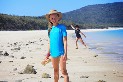 Photo bomb on Long Beach Great Keppel Island