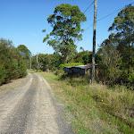 Walking along farm land on Robinson Rd (371038)