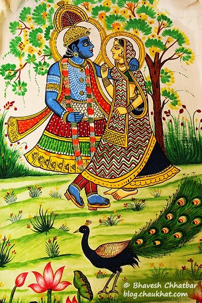 Wall painting of Radha-Krishna