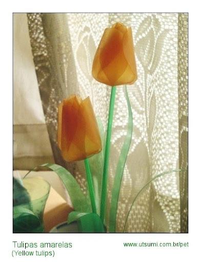 tulipas de garrafas PET