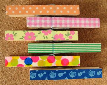 washi tape clothespins photo