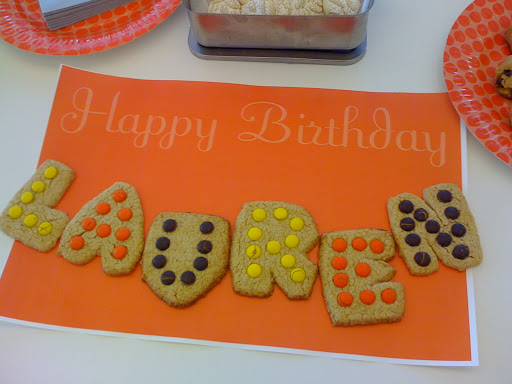 Heidi made this cookie card!