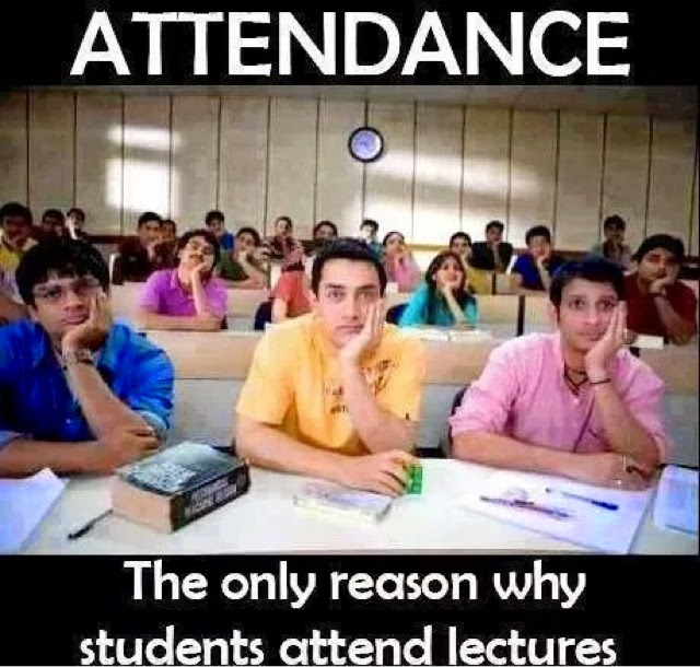 Attendance why student attend the lectures !! Whatsapp funny pic