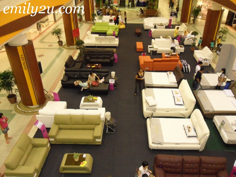 leather sofa mattress exhibition