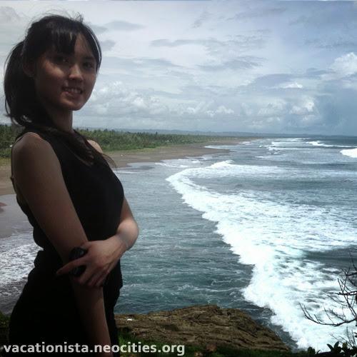 Alexia pose at Batu Hiu three
