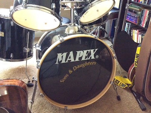 Bass drum with text