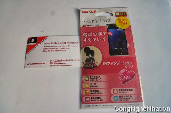 Dán màn Sony Xperia V (AX SO-01E) chống bụi bẩn