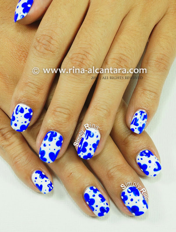 Looks Like Porcelain Nail Art Design by Simply Rins