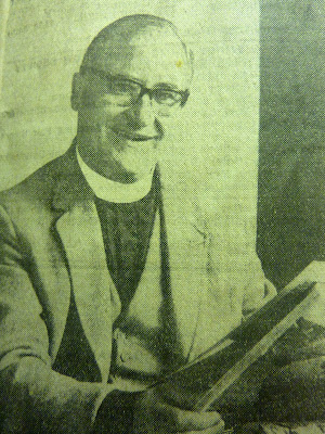 Canon William Butler, Rector of All Saints Church in 1967. He was a missionary in Uganda for 24 years. At this time he had been Rector for four years.