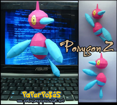 Pokemon Porygon Z Papercraft