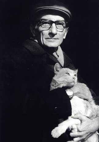 Bijan Jalali and a cat