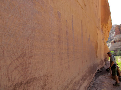 Harvest Scene pictographs, with Richard and Kevin for scale