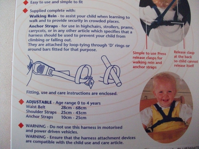 lindam harness and reins instructions
