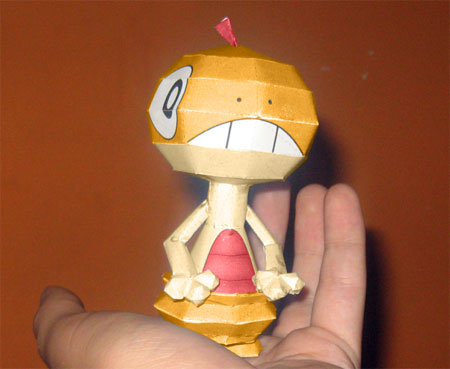 Pokemon Scraggy Papercraft