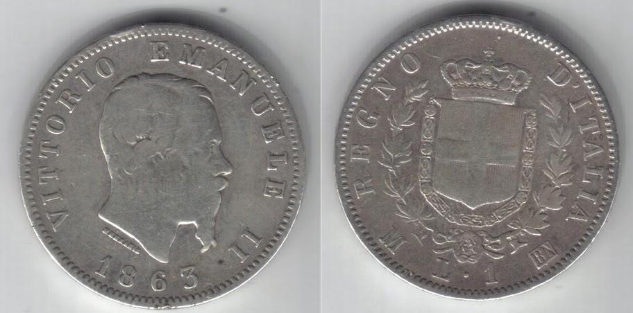 Mi colección de monedas italianas. 1%20lira%201863%20M%20-1-