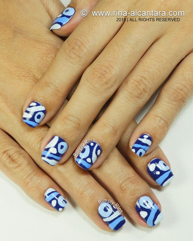 Blue Hoo Nail Art Design by Simply Rins