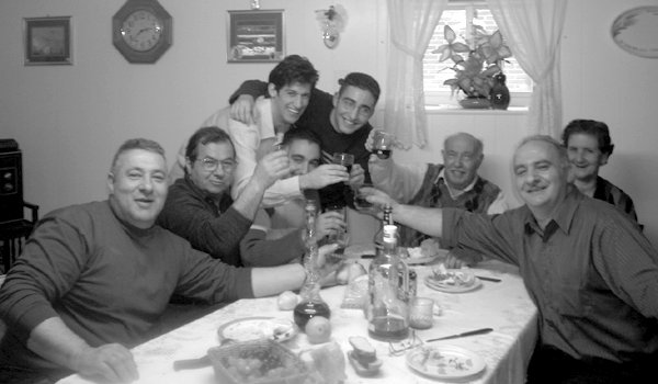 The Scordo family at our original home in New Jersey - eating together, including Thanksgiving, has always been one of best aspects of living as an Italian American