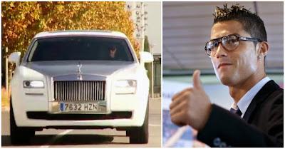 Cristiano Ronaldo estreia luxuoso Rolls Royce Ghost branco