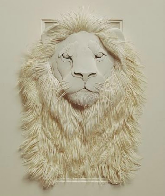 Wildlife Paper Sculpture by Calvin Nicholls 2