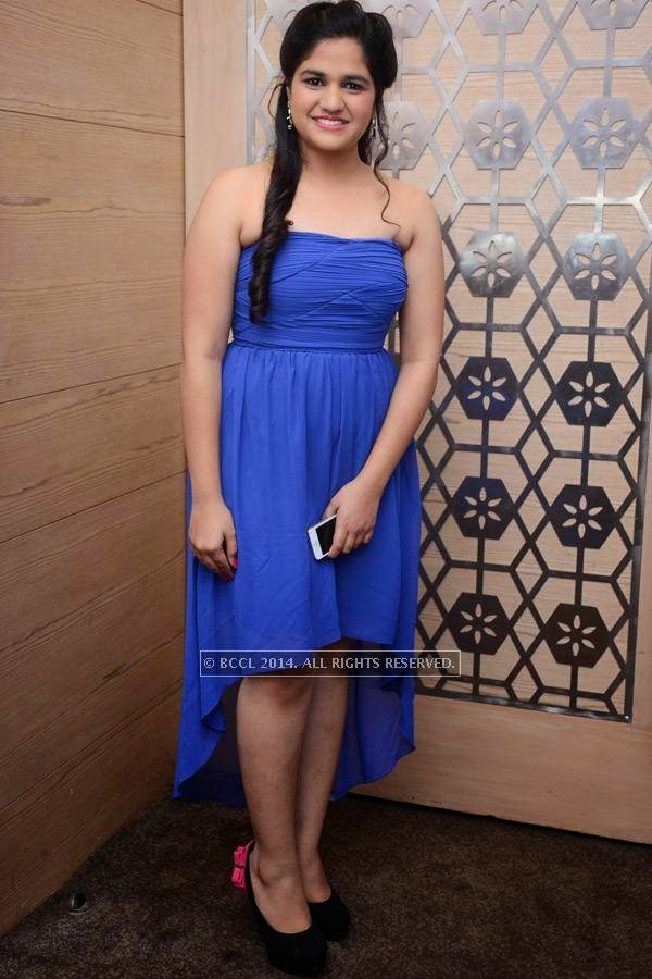 Suhani at Ritesh and Namrata's 15th wedding anniversary, held at a city hotel in Hyderabad.