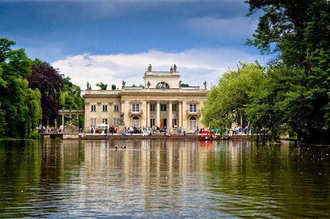 Palace on the Island Lazienki Park Poland