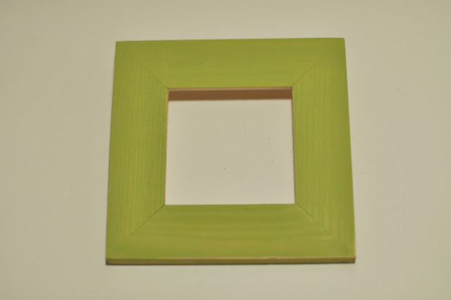 St Patrick's Day art - wooden frame painted green