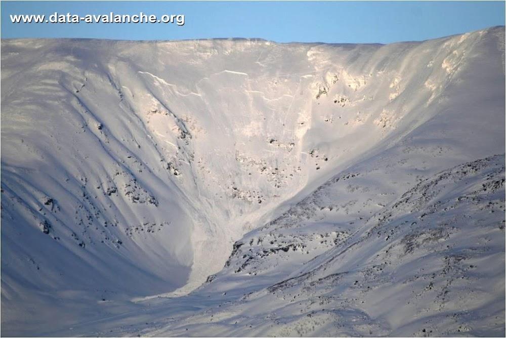 Avalanche Sorbmegaisa , Norvège - Municipalité de Kaafjord - Photo 1