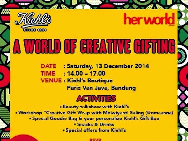 A world of creative gifting with Kiehls and Her World Magazines