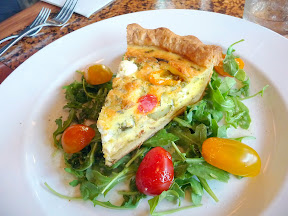 The Country Cat, Portland Oregon, Summer Vegetable Pie with Tomatoes and Goat Cheese