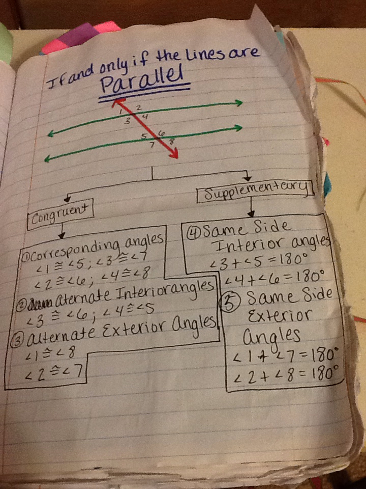 Journal Wizard Geometry Applying Parallel Lines Transversals And