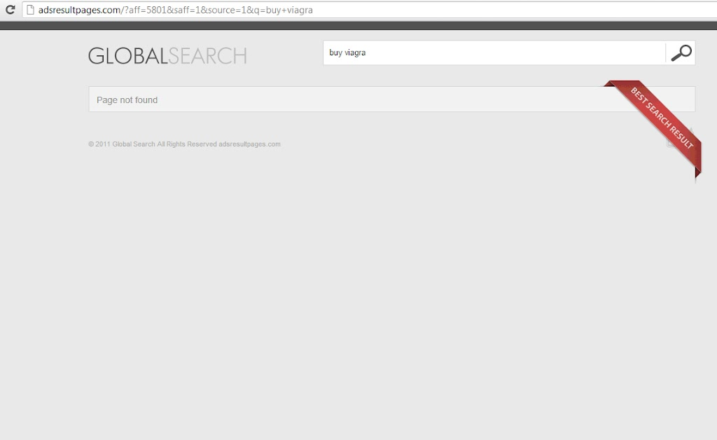 globalsearch page not found