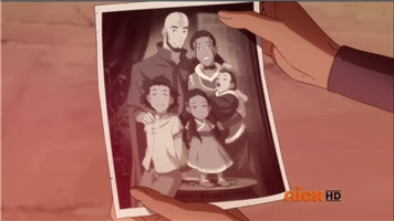 Photo of Aang and Katara with their children