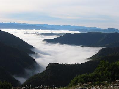 mar de nubes en A Bobia