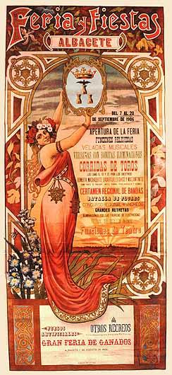 Cartel Feria Albacete 1906