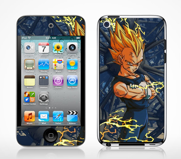 Dragonball GT VEGETA Ipod Touch 4G Vinyl Decal Skin Sticker