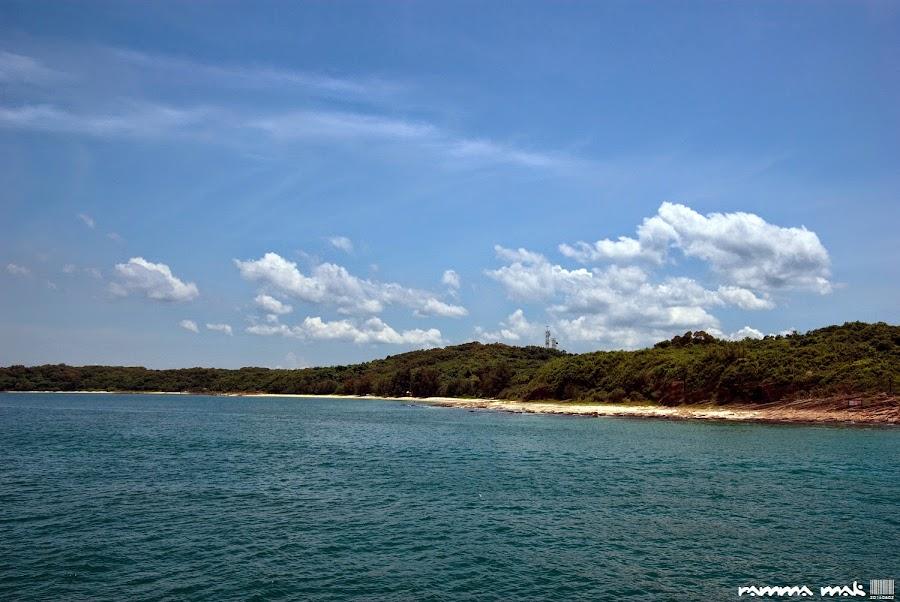 東平洲有很長的沙灘