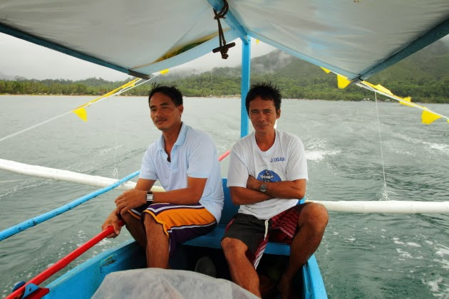 Filipino Boatmen taking us to the Sabang underground river