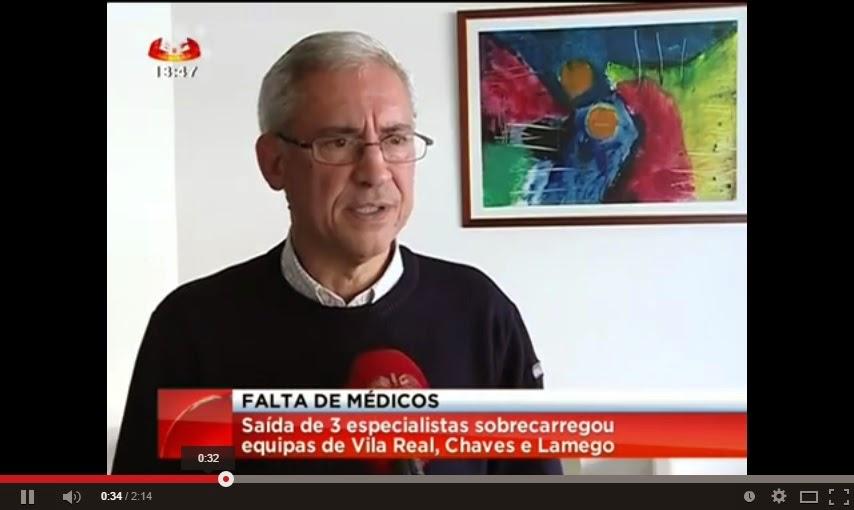 Vídeo - Ordem dos médicos alerta para a falta de profissionais em Vila Real, Chaves e Lamego